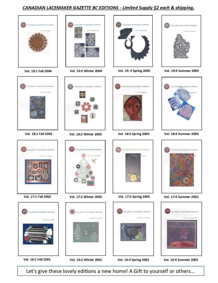Website Sales Gazette Images BC 16 to 19