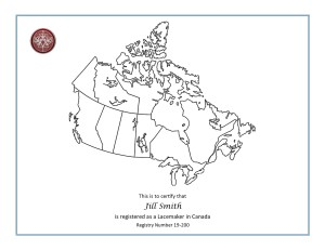 Canada Registry English Certificate