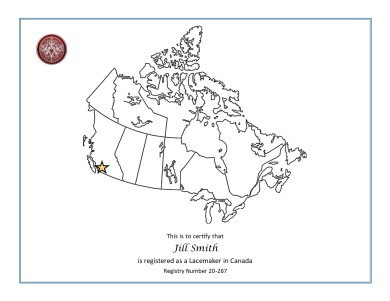 Canada Registry English Certificate Sample