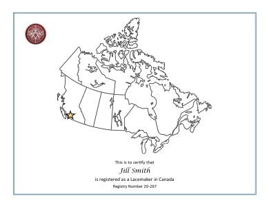 Canada Registry English Certificate Sample